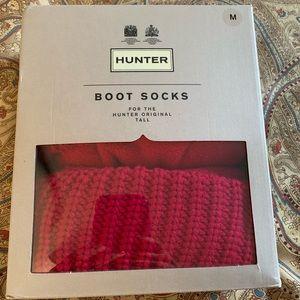 Hunter Boot Socks Medium Red